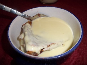 home made custard