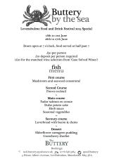 pop up 9 by the sea fish menu