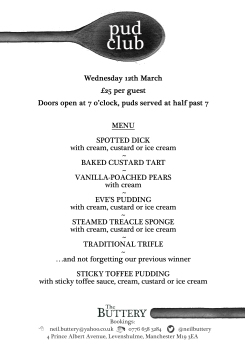 pud club march menu