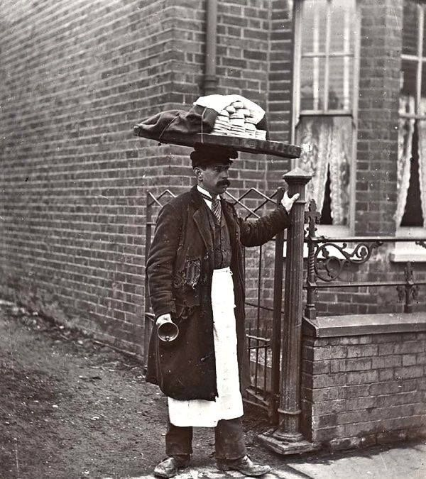 Muffin Man c1910 from British Food History
